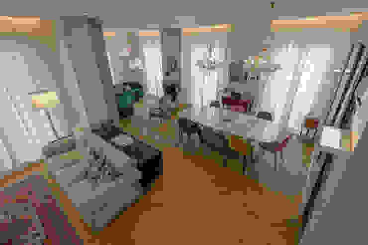 Archifacturing Salas de estilo ecléctico Madera