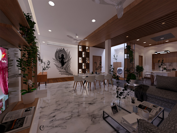 Living Room Design Modern living room by Creative Architects Studio Modern Wood Wood effect