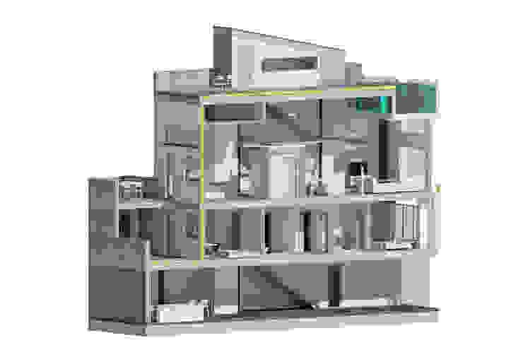 Sección vivienda unifamiliar 3 plantas. Valencia de Barreres del Mundo Architects. Arquitectos e interioristas en Valencia. Moderno