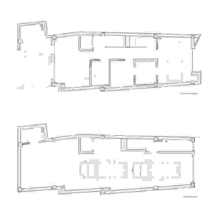 Planta baja y planta 1 Casa Sants. Valencia de Barreres del Mundo Architects. Arquitectos e interioristas en Valencia. Moderno