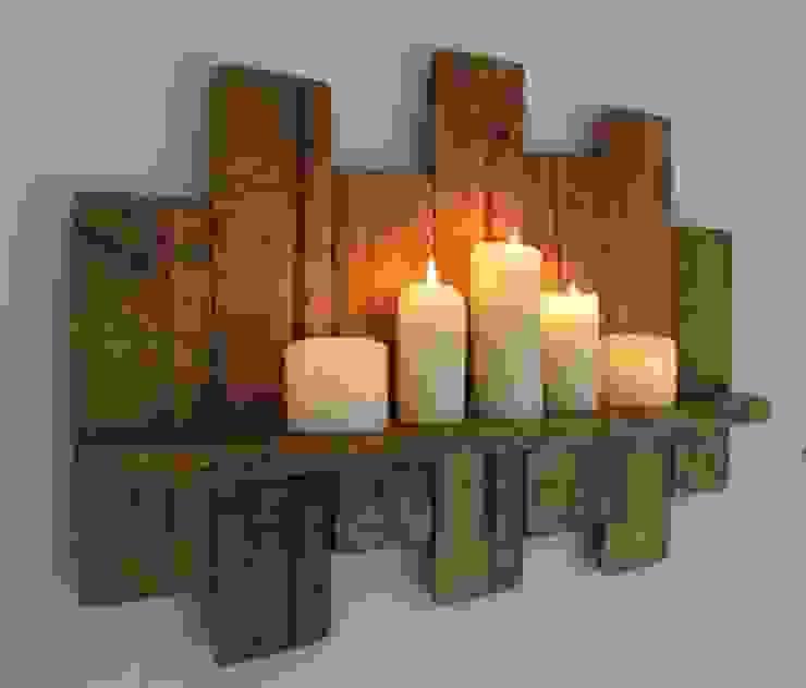 ديكور داخلي خشبي مع شموع: كلاسيكي  تنفيذ Wooden House - Jordan,كلاسيكي خشب Wood effect