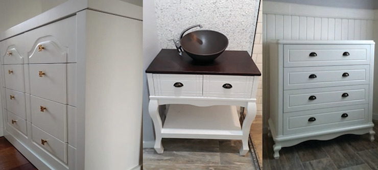 JS home móveis sob medida. DormitoriosPeinadoras Tablero DM Blanco