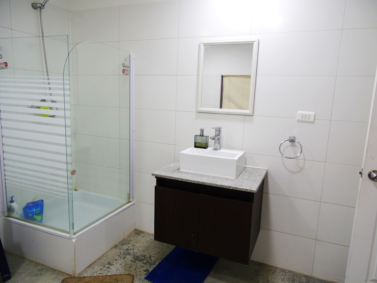 Ванная комната в стиле минимализм от Montgreen Ecomodular Минимализм
