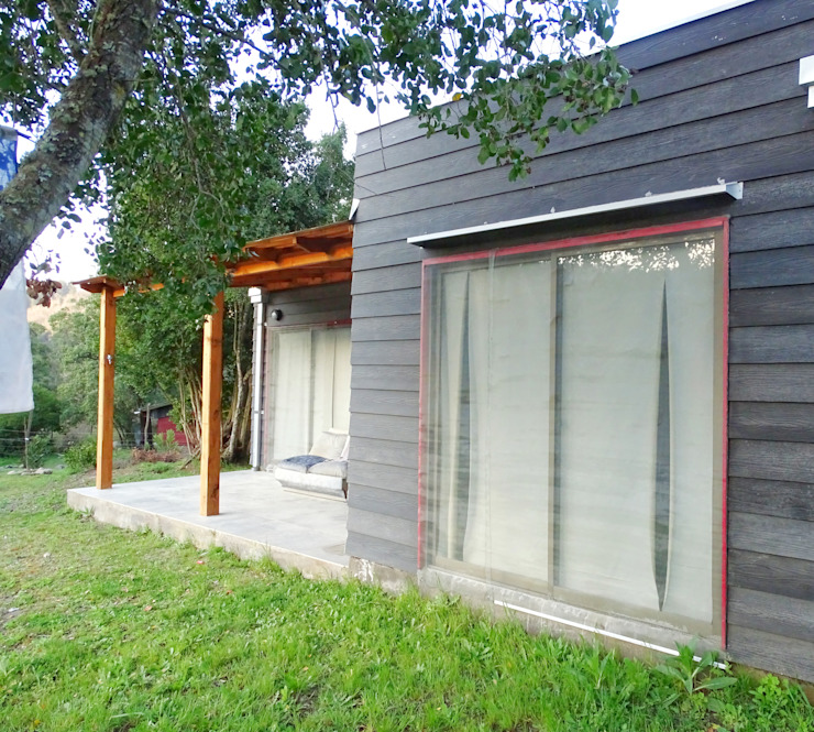 Varandas, alpendres e terraços minimalistas por Montgreen Ecomodular Minimalista