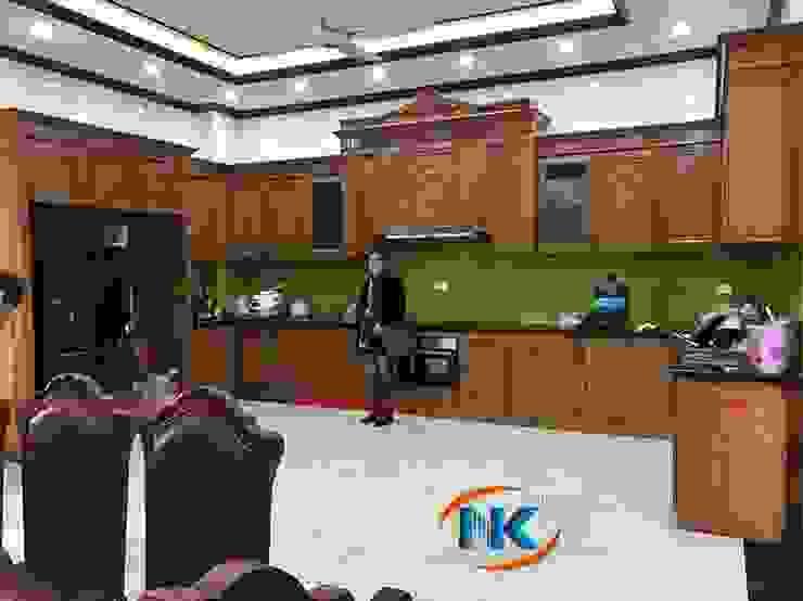 Tính tối ưu khi sử dụng tủ bếp sồi nga chữ U phong cách hiện đại bởi Nội thất Nguyễn Kim