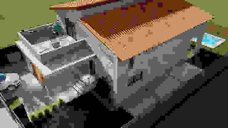 de QCASA.Madrid. Viviendas industrializadas eficientes de hormigón Moderno Concreto