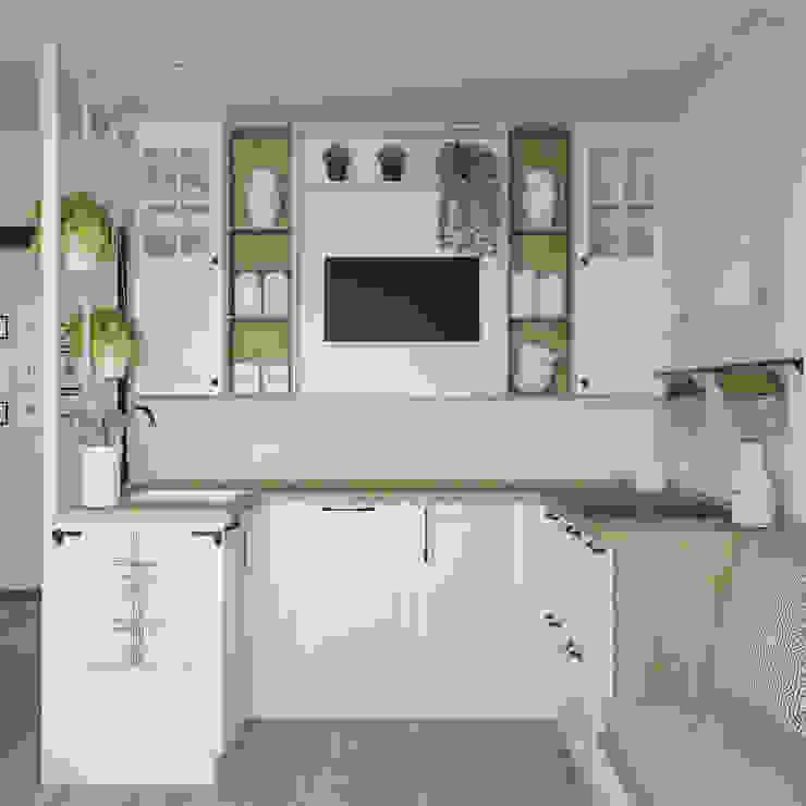 Небольшая квартира для большой семьи Кухня в скандинавском стиле от Юлия Буракова Скандинавский