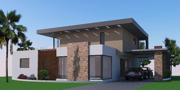 Angola-Luanda Modern Arch- home design by Wentworth Architects Modern Concrete