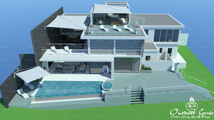 House of Sails Modern balcony, veranda & terrace by The Outdoor Genie Modern