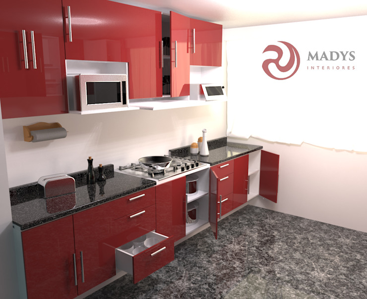 Cocina Braga de MADYS INTERIORES Moderno