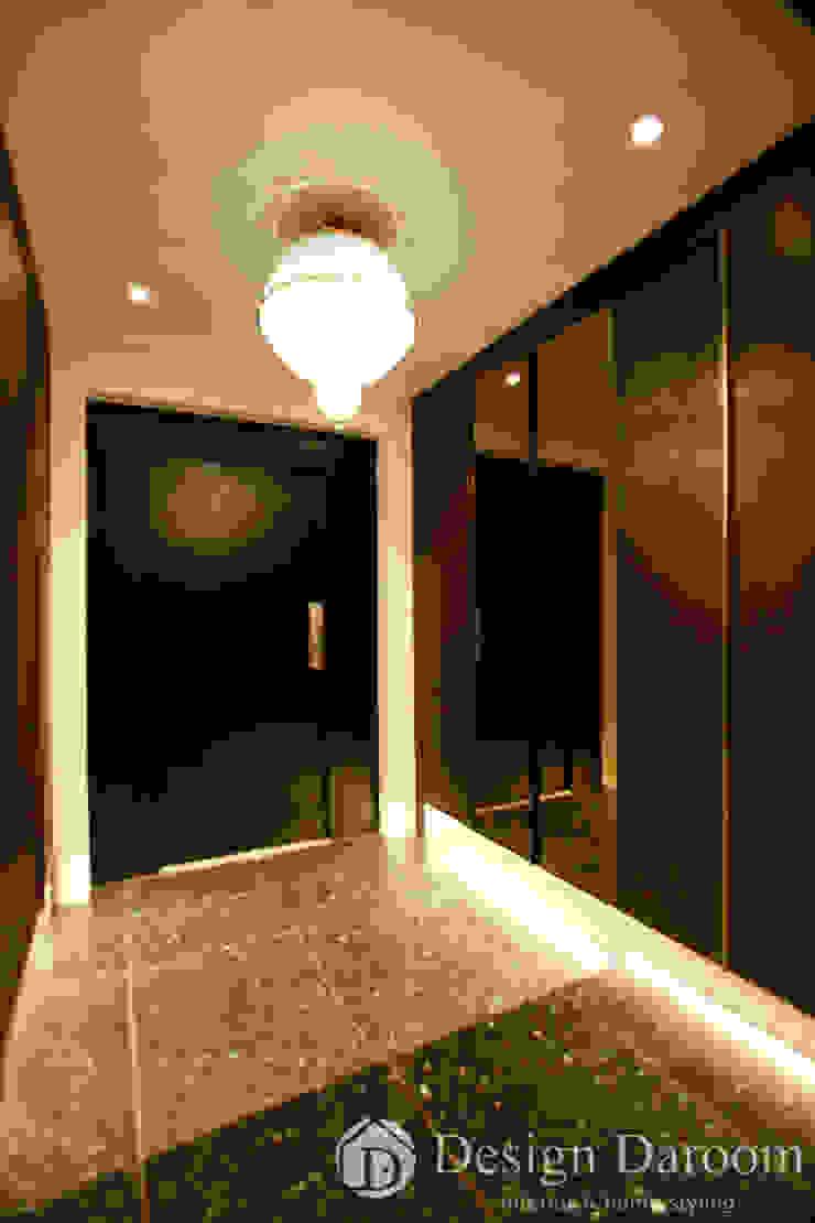 김포 전원주택 78py 1층 현관 모던스타일 복도, 현관 & 계단 by Design Daroom 디자인다룸 모던