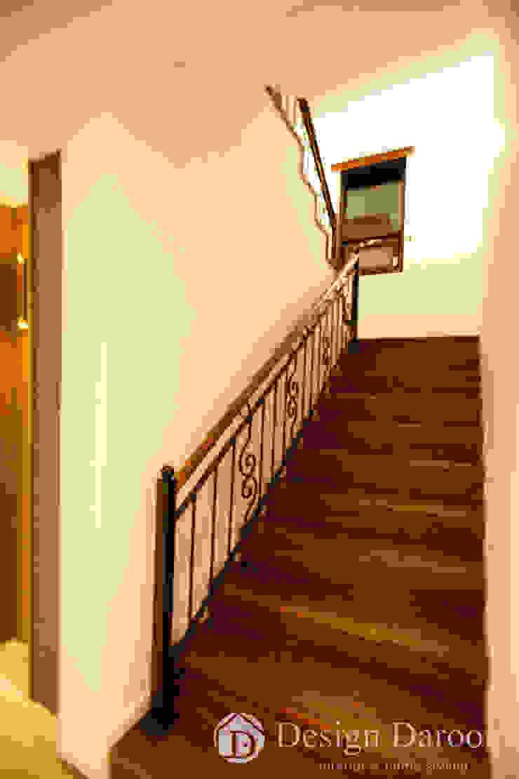 김포 전원주택 78py 1층 계단 by Design Daroom 디자인다룸 모던