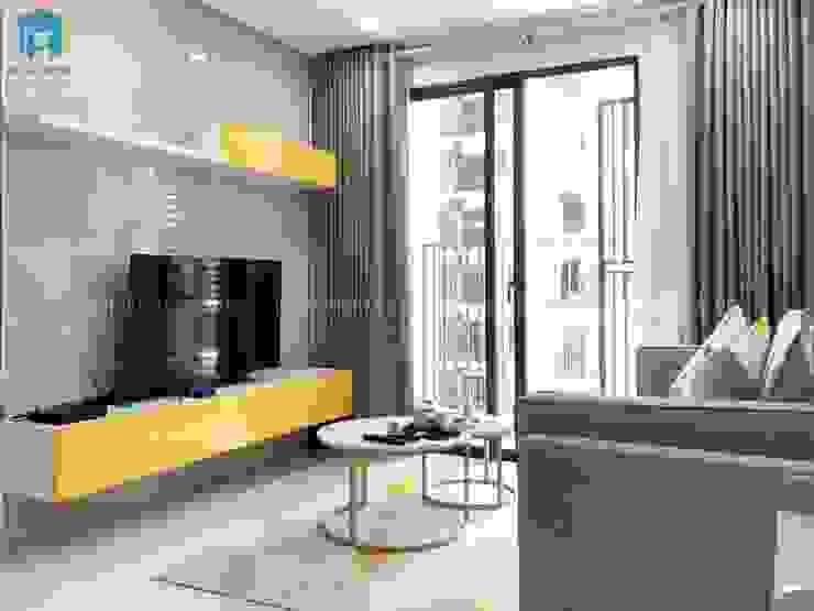 Kệ ti vi gỗ công nghiệp phủ acrylic bởi Công ty TNHH Nội Thất Mạnh Hệ Hiện đại Gỗ thiết kế Transparent