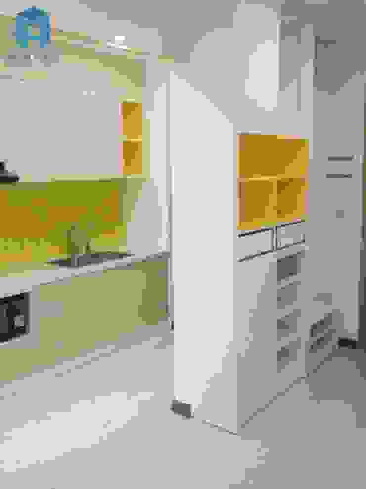 Tủ bếp và kệ giày Nhà bếp phong cách hiện đại bởi Công ty TNHH Nội Thất Mạnh Hệ Hiện đại Gỗ thiết kế Transparent