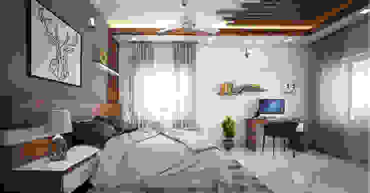inspiring and creative bedroom designs: modern  by Monnaie Interiors Pvt Ltd,Modern