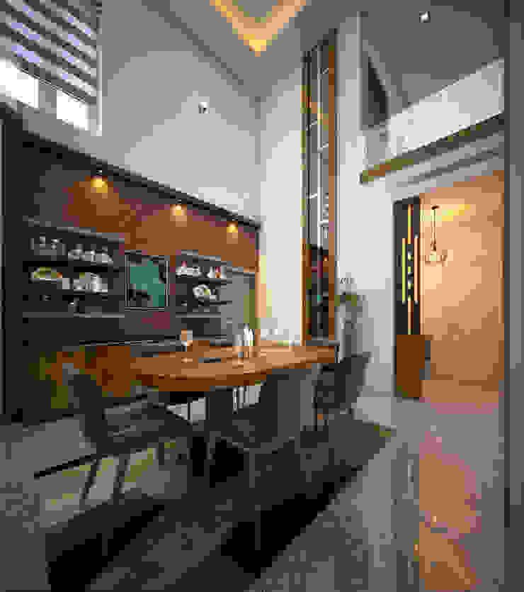 modern dining room ideas : modern  by Monnaie Interiors Pvt Ltd,Modern