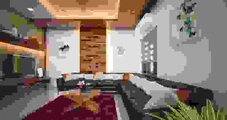 modern living room designs : modern  by Monnaie Interiors Pvt Ltd,Modern