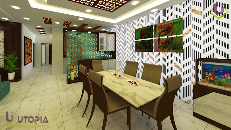 Residential Interior Designer in Bangalore Modern dining room by Utopia Interiors & Architect Modern