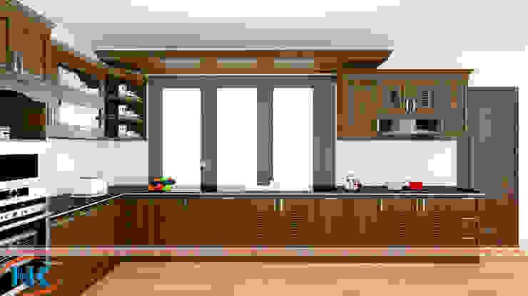 Đâu là lý do thuyết phục bạn sử dụng mẫu tủ bếp gỗ màu nâu bởi Nội thất Nguyễn Kim