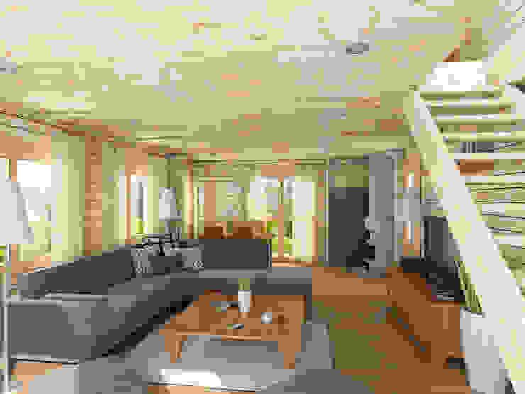 توسط THULE Blockhaus GmbH - Ihr Fertigbausatz für ein Holzhaus راستیک (روستایی) چوب Wood effect