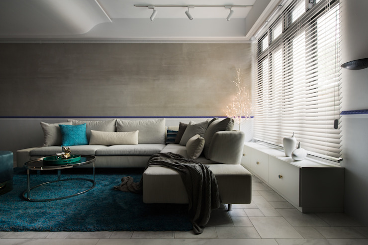 Salones de estilo moderno de 肯星室內設計 Moderno