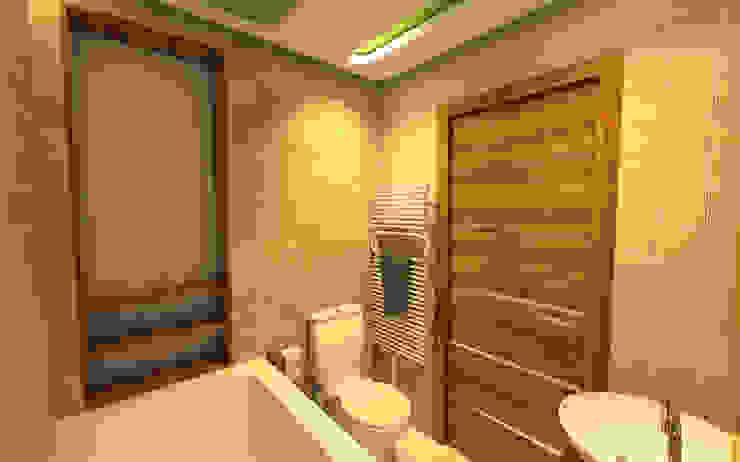 Minimalist style bathroom by STUDIO DESIGN КРАСНЫЙ НОСОРОГ Minimalist Wood Wood effect