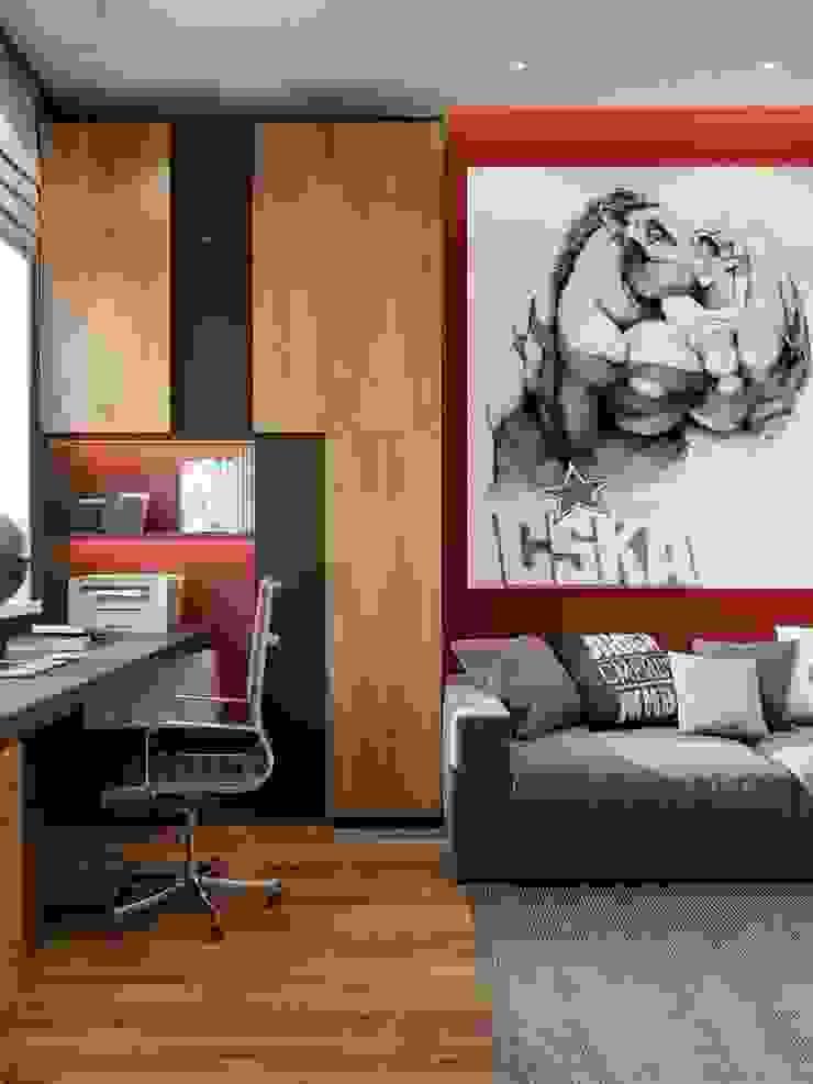 ПРОЕКТ ЖК КОЛИЗЕЙ, МОСКВА Рабочий кабинет в стиле лофт от Interior designers Pavel and Svetlana Alekseeva Лофт