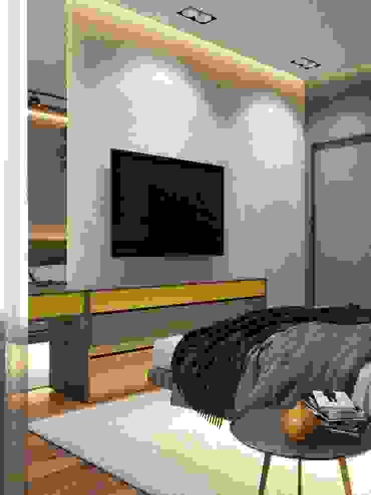 ПРОЕКТ ЖК КОЛИЗЕЙ, МОСКВА Спальня в стиле лофт от Interior designers Pavel and Svetlana Alekseeva Лофт