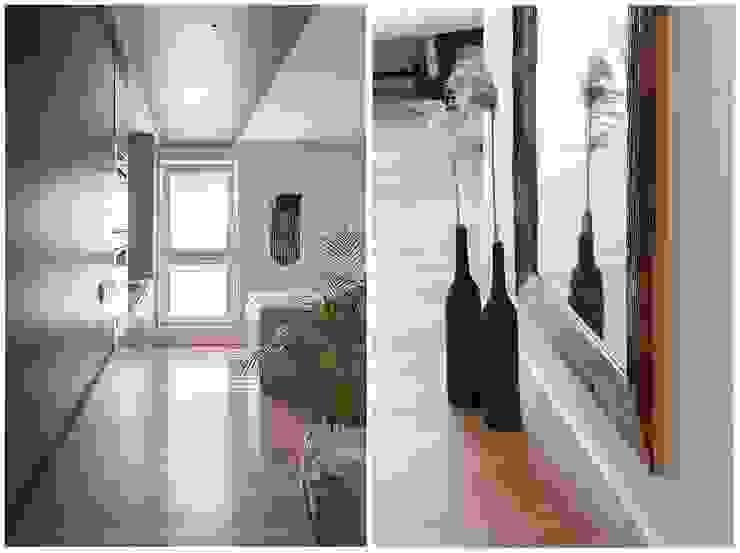 Scandinavian style corridor, hallway& stairs by Bargański Pracownia Wnętrz Scandinavian