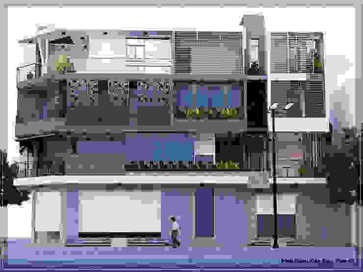Thiết kế nhà mặt phố kinh doanh cafe bởi Công Ty Thiết Kế Xây Dựng LOUIS