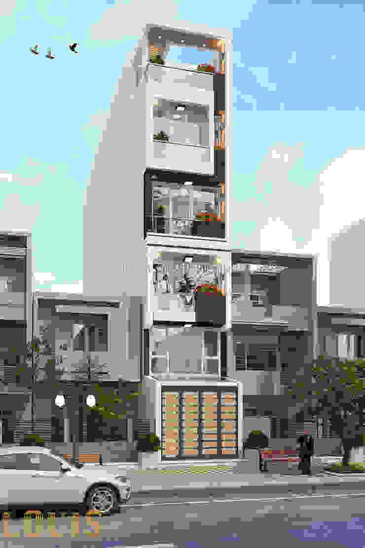 Thiết kế nhà kinh doanh căn hộ mini bởi Công Ty Thiết Kế Xây Dựng LOUIS