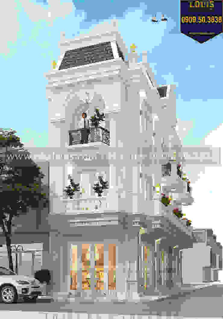 Thiết kế nhà phố vừa ở vừa kinh doanh bởi Công Ty Thiết Kế Xây Dựng LOUIS
