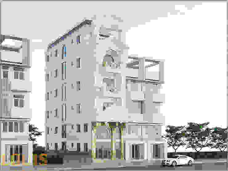 Thiết kế nhà mặt phố kinh doanh cho thuê phòng cao cấp bởi Công Ty Thiết Kế Xây Dựng LOUIS
