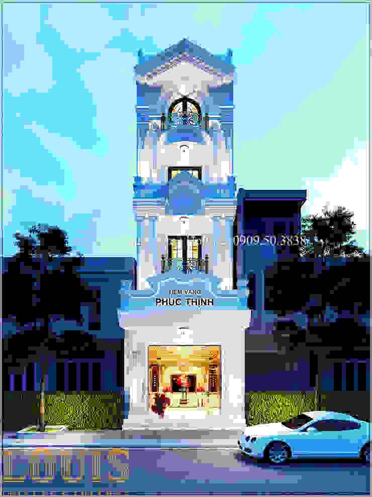 Thiết kế nhà đẹp kết hợp kinh doanh tiệm vàng bởi Công Ty Thiết Kế Xây Dựng LOUIS