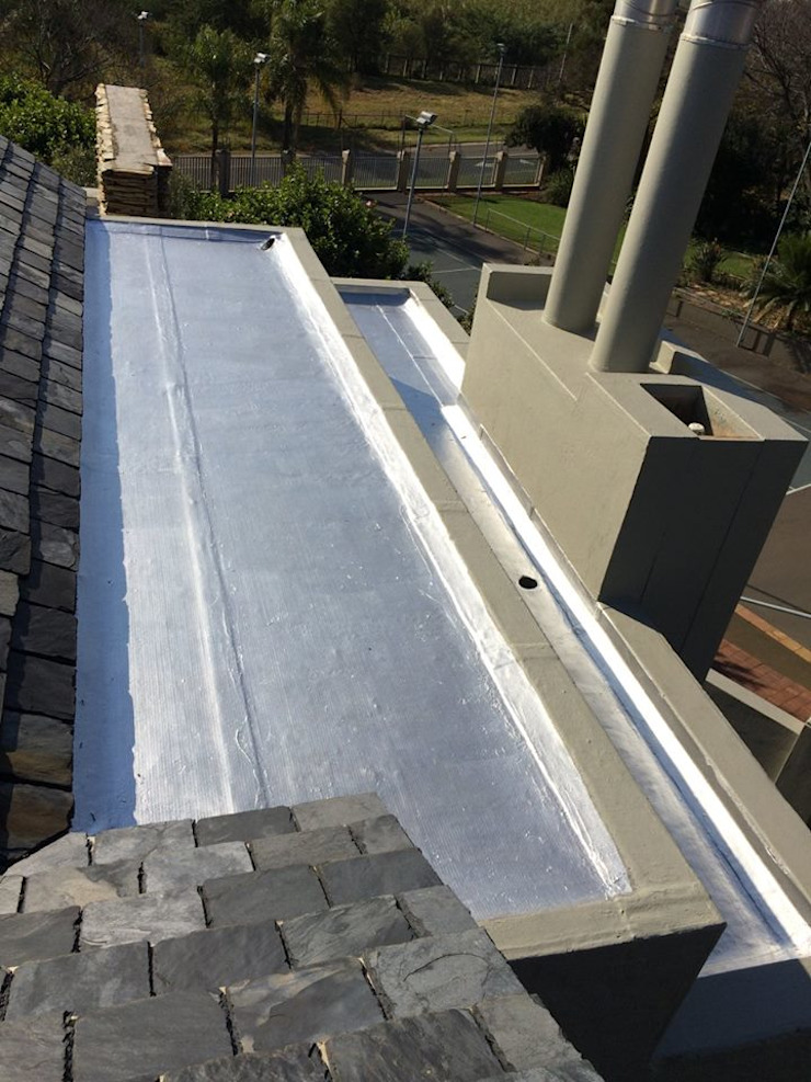Torch-On Waterproofing On A Flat Concrete Slab Speciality Waterproof & Roof Flat roof Concrete Metallic/Silver