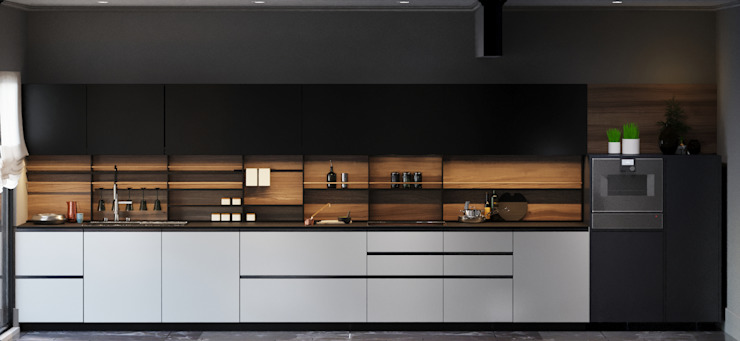 Demir Evi Mutfak Entrada Mimarlık Modern Ahşap Ahşap rengi