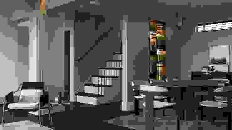 Demir Evi Merdiven Entrada Mimarlık Modern Ahşap Ahşap rengi