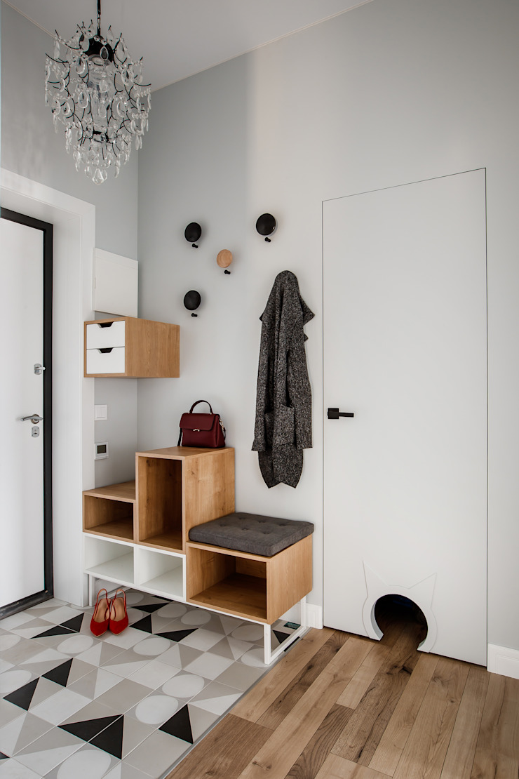 Дизайн Студия 33 斯堪的納維亞風格的走廊,走廊和樓梯
