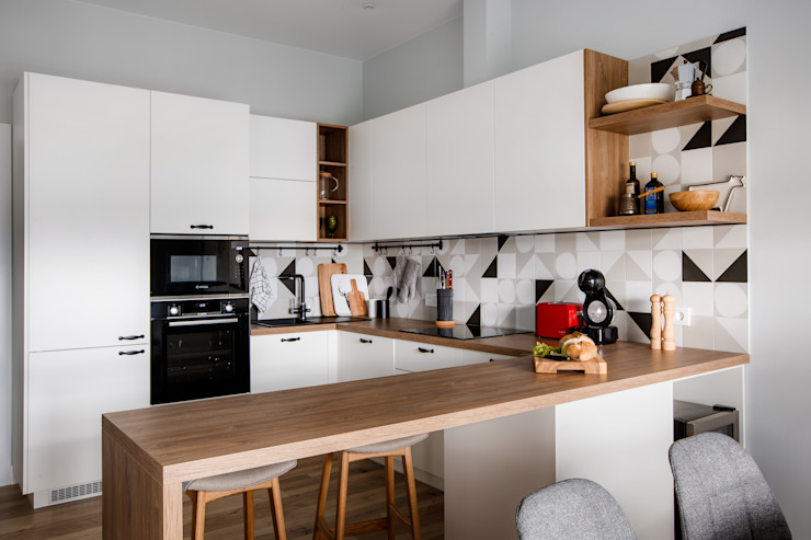Реализованный интерьер ЖК Армада Дизайн Студия 33 Кухня в скандинавском стиле