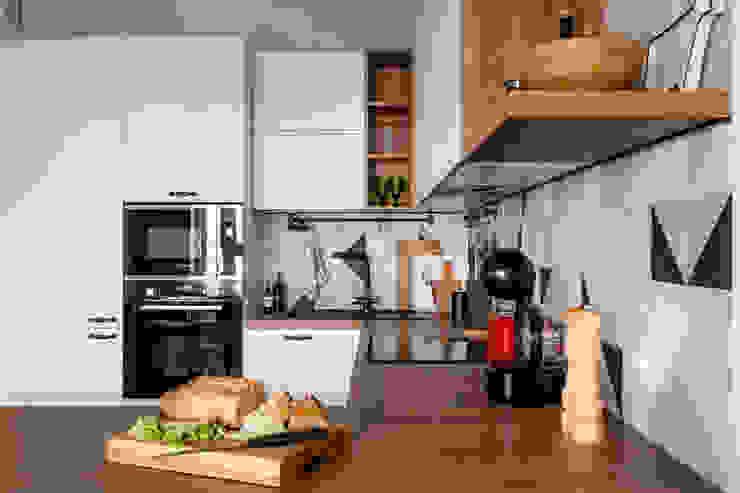 Реализованный интерьер ЖК Армада Кухня в скандинавском стиле от Дизайн Студия 33 Скандинавский
