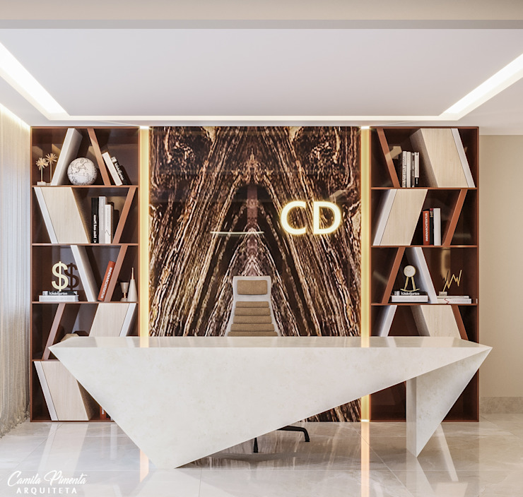 Camila Pimenta | Arquitetura + Interiores Commercial Spaces หินอ่อน Beige