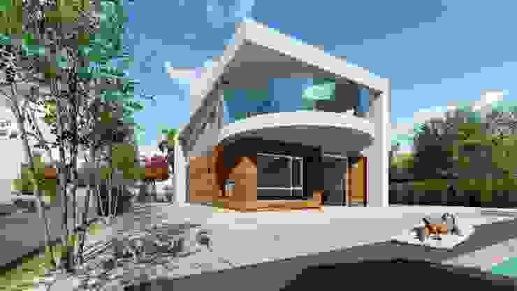 Vivienda moderna en dos plantas hacia el Sur. de DYOV STUDIO Arquitectura, Concepto Passivhaus Mediterraneo 653 77 38 06 Moderno Madera Acabado en madera