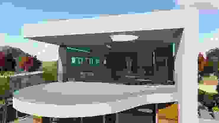 Vivienda moderna con terraza diáfana amplia como un balcón hacia el Mar y hacia el Sur. de DYOV STUDIO Arquitectura, Concepto Passivhaus Mediterraneo 653 77 38 06 Moderno Madera Acabado en madera