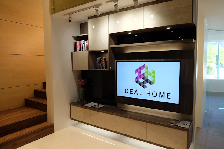 Entertainment Unit: industrial  by Ideal Home, Industrial Plywood