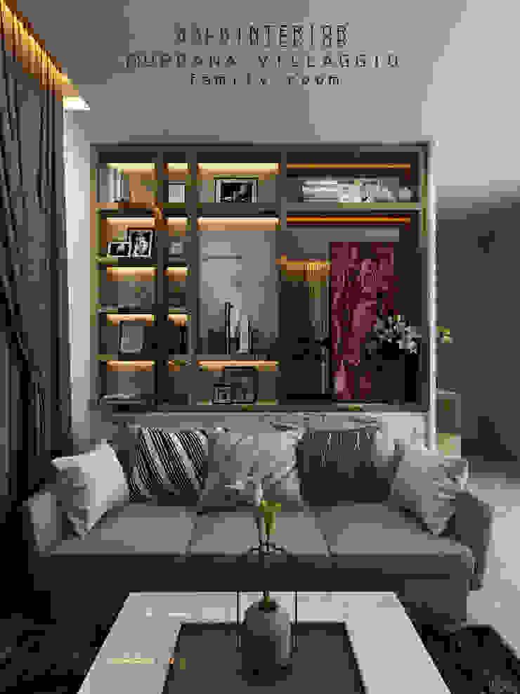 family room: ทันสมัย  โดย walkinterior , โมเดิร์น กระจกและแก้ว