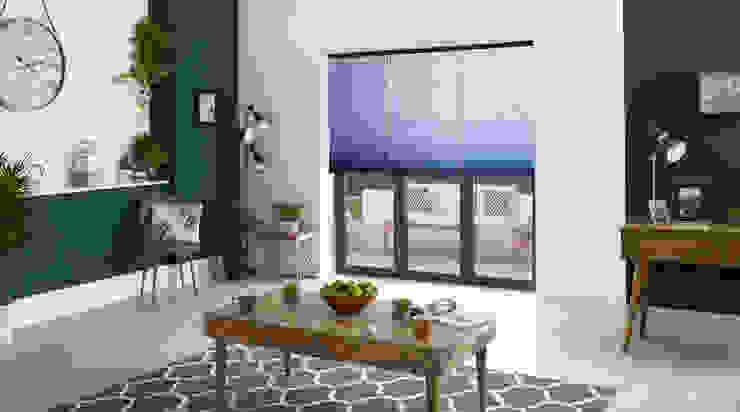 ULTRA Smart Honeycomb thermal blinds Appeal Home Shading ห้องนั่งเล่นของตกแต่งและอุปกรณ์จิปาถะ Blue