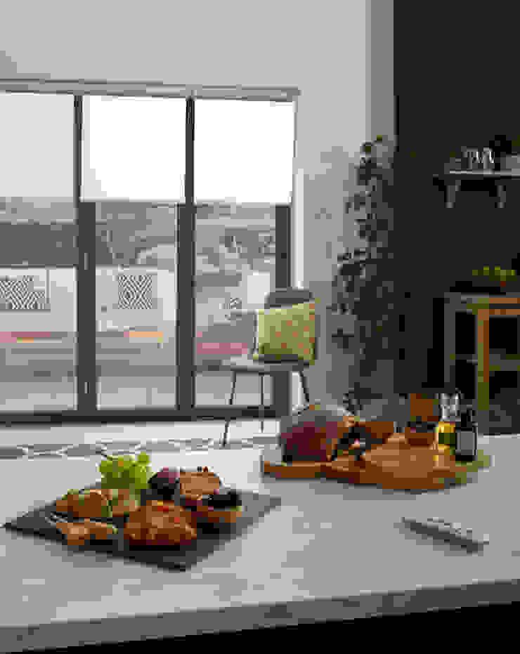 ULTRA Smart Roller blinds - stylish kitchen Appeal Home Shading ห้องครัวสิ่งทอและของใช้จิปาถะในครัว White
