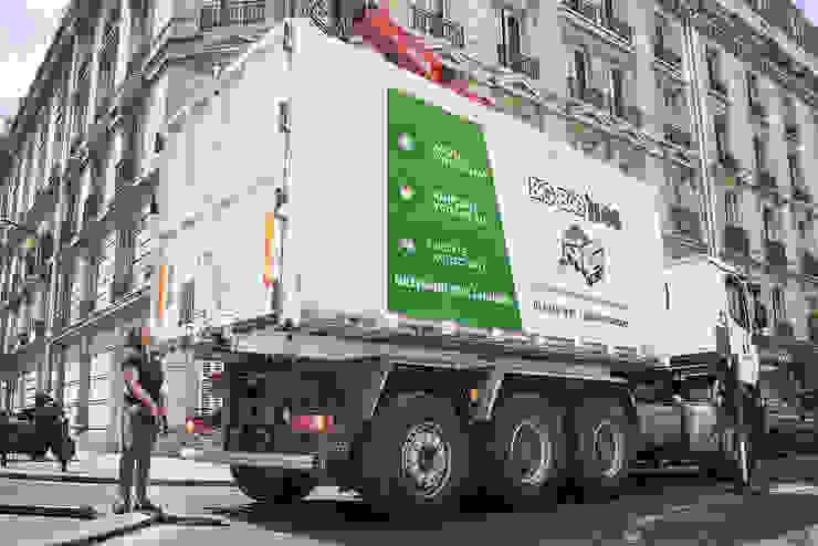 Notre camion 32 tonnes conclut l'évacuation avant de se diriger vers un autre chantier Big Bag 'n Go
