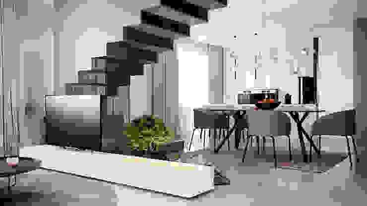 дизайн студия А Гординского Salas de estilo minimalista Compuestos de madera y plástico Multicolor