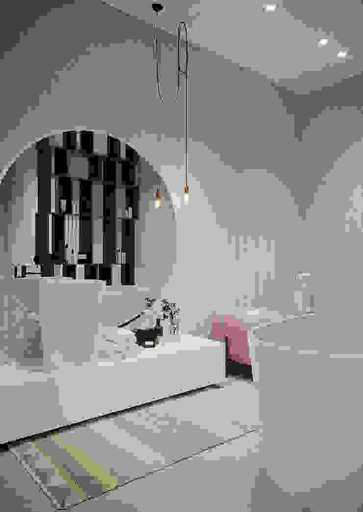 ванная дизайн студия А Гординского Minimalist bathroom Ceramic Multicolored